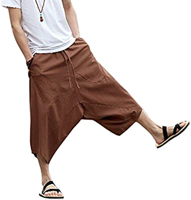 Bloomers Boyfriend Pants Aladin Harem Baggy Yoga Palazzo Cotton Trousers