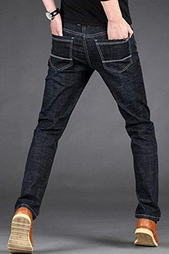 Los Hombres Mezclilla Pantalones Pantalones De Recta Larga Casuales Vepodrau Pantalones Lblack Negocio De qwfUdq