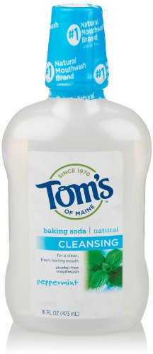 Mouthwash Peppermint Baking Soda - Tom's of Maine Natural Cleansng Baking Soda Mouthwash, Peppermint, 16 Ounce