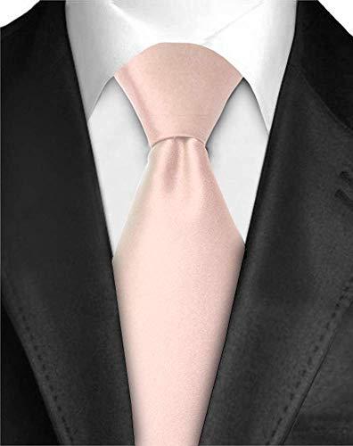 Ties For Men Necktie Polyester Satin Silk Finish Neck tie - Dabung - Light Pink