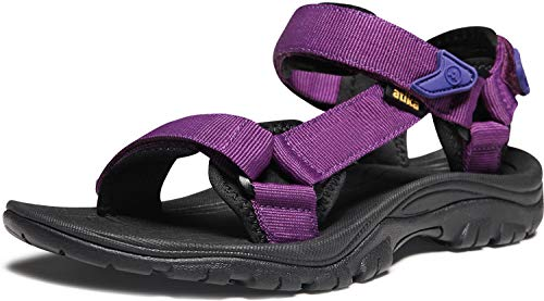 ATIKA Women's Maya Trail Outdoor Water Shoes Sport Sandals, Maya(w111) - Purple, 8