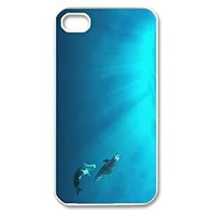 Hard Shell Case Of Dolphin Customized Bumper Plastic case For Iphone 4/4s