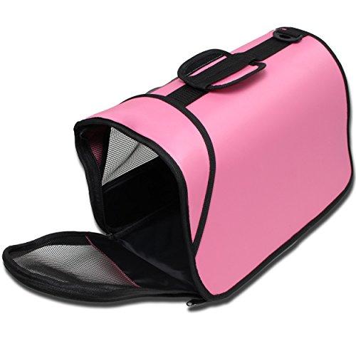 Kleintier Tasche Transporttasche Box Katze Hund Kaninchen ca. 45x25x23cm rosa