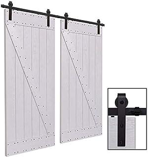 201CM/6.6FT Puerta de granero corredera estilo rústico puerta de ...