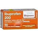 Walgreens Ibuprofen 200 Caplets, 50 Each