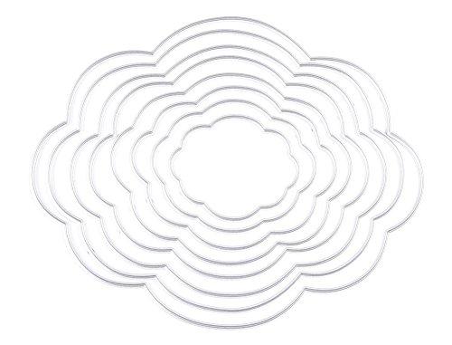 (キッズ ハウス)KIDS HOUSE 製紙工芸品 雲デザイン 8枚セット エンボステンプレート ペーパーエンボス 切削ステンシルの商品画像