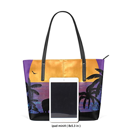 Pattern BENNIGIRY On Handle Shoulder Bags Large Handbag Sunset Tote Ocean Top Elephants Near Women 7Fr7fxwn6