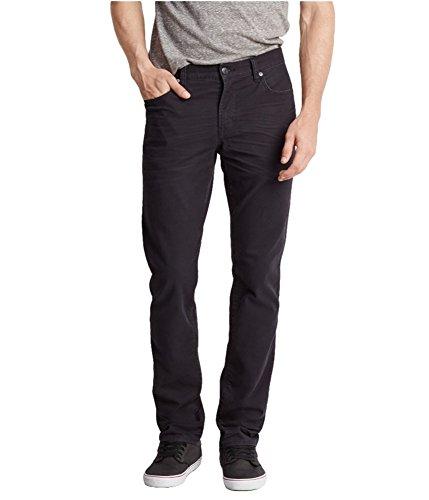 Aeropostale Mens 5 Pocket Skinny Fit Jeans, Black, 30W x 30L
