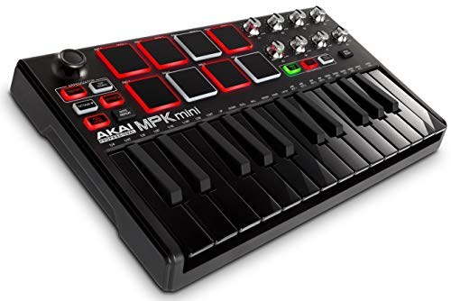Akai Professional MPK MINI MKII LE Black | 25-Key Portable USB MIDI Keyboard With 8 Backlit Performance-Ready Pads, 8-Assignable Q-Link Knobs & Software Package Included - Limited Edition