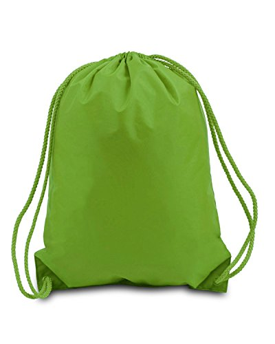 Lime Green String - Liberty Bags 8881 Unisex Adult Small Drawstring Backpack Lime Green One Size