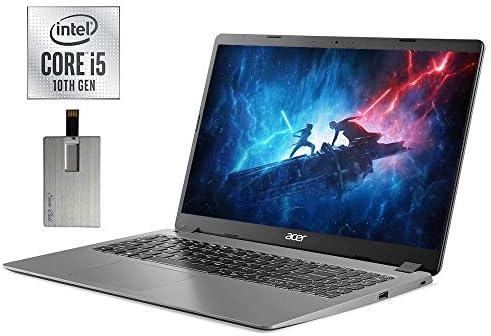 2021 Acer Aspire 3 15.6″ FHD Laptop Computer, 10th Gen Intel Quad-Core i5-1035G1, 8GB DDR4 RAM, 256GB PCIe SSD, Intel UHD Graphics, Built-in Webcam, HDMI, Windows 10, Black, 32GB SnowBell USB Card
