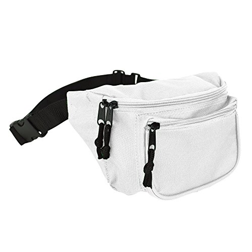DALIX 3 Pocket Fanny Pack Money Pouch Concealer Runners Bag
