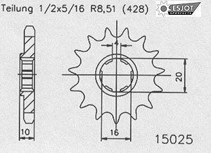 REGINA cha/îne standard kit hyosung gV 125 aquila /à partir de 2001