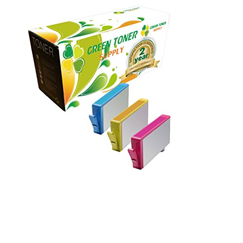Green Toner Supply Compatible Ink Cartridge Replacement for HP 564XL (1 Cyan, 1 Yellow, 1 Magenta, 3-Pack)