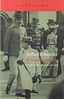 El teniente Gustl par Schnitzler