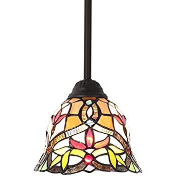 Amazon.com: Quoizel tf1541 Tiffany 1 luz Mini colgante con ...