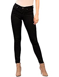 Womens Junior 5 Pckt Wannabettabutt Mid Rise Denim Skinny Jeans Pants P724056
