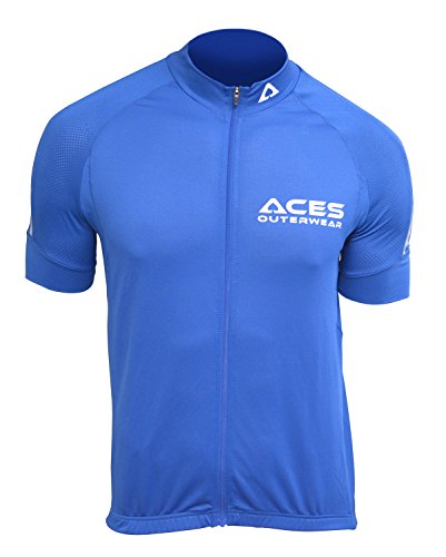 ACES Factor Cycling Jersey (Blue, Large)