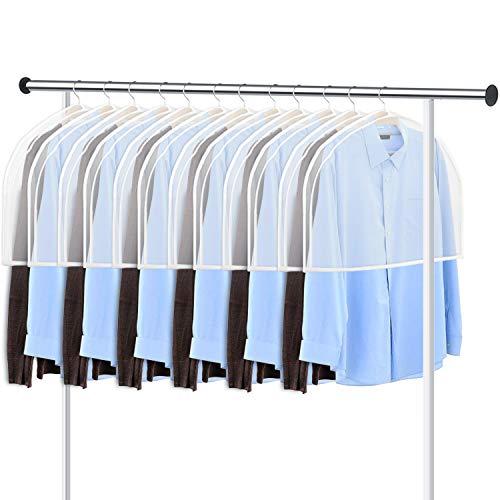 "KEEGH GarmentShoulder Covers Bag(Set of 12) Breathable Closet Suit Organizer Prevent Clothes Shoulder from Dust, 2"" Gusset Hold More Coats, Jackets, Dress"