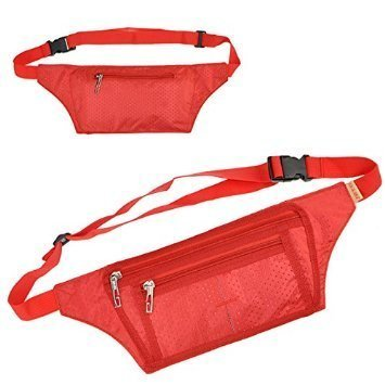Bluecell Slim Water resistance Sporty Travel Waist Bag for C