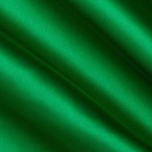 Charmeuse Bridal Satin Kelly Green Fabric 60 Inches By the Yard