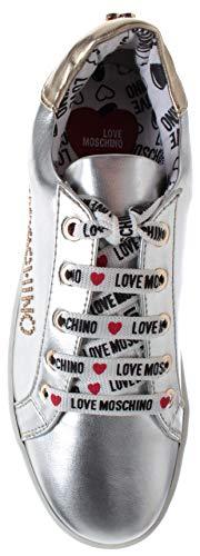 Love Plataforma Zapatos Ja15243g17ic0902 Mujer Plata Con Silver Zapatillas metallic Moschino q5fWwrXf