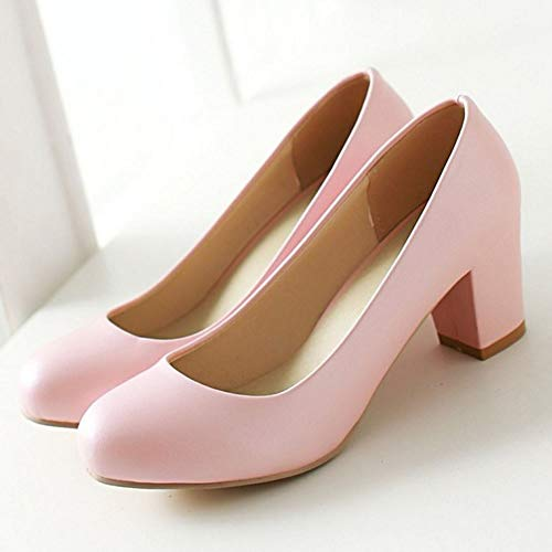 Zanpa Shoes Zanpa Pumps Heel Women Low Women Pink Basic 1 BdZpq0OwOx