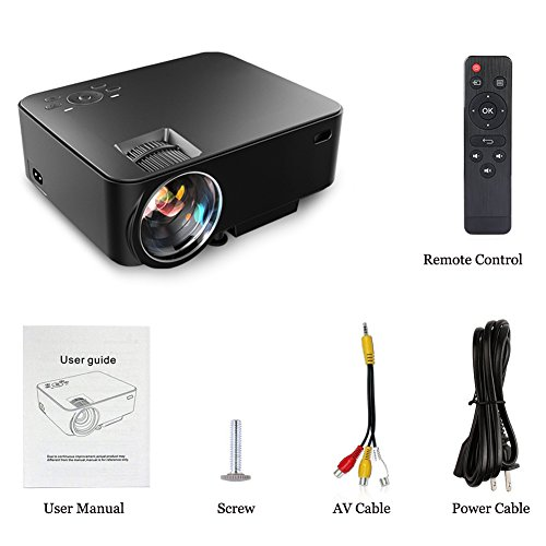 Aero Snail T30 1800 Lumens Mini Portable Video Projector(Warranty Included), Multimedia Home Theater, Support 1080P HDMI USB SD Card VGA AV for Blu-Ray DVD Player, PC, Laptop, Xbox PS3 PS4 HD Games by Aero Snail (Image #8)