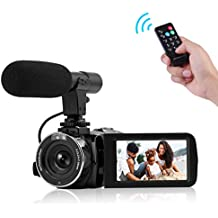 Camcorder Full HD 1080P Digital Camera WIFI IR Night Vision Function Vlogging Camera Video Camera External Microphone
