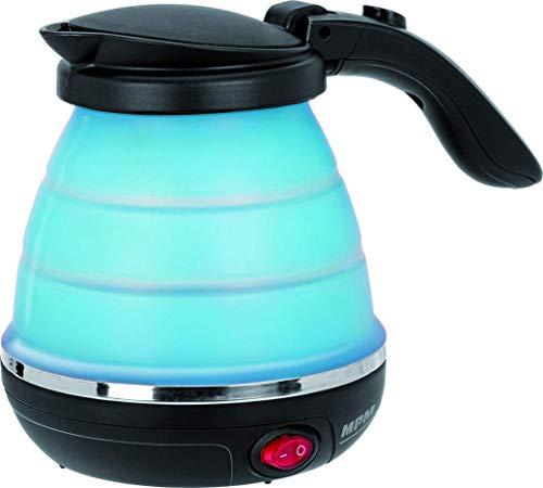 MPM MCZ-73/N Hervidor de Agua Electrico de Silicona, 0,5 Litros, 750W, Libre de BPA, Azul