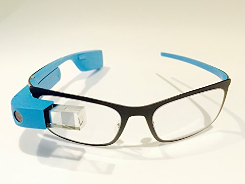 Google Glass Explorer Edition XE-C 2.0 with Frames RX Rocker Style Bundle Package (Sky Blue)