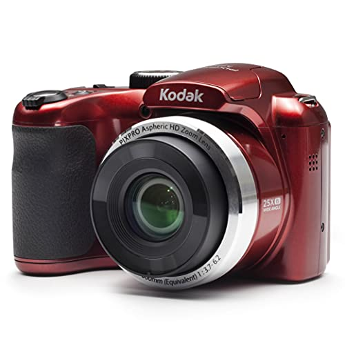 "Kodak PIXPRO Astro Zoom AZ252-RD 16MP Digital Camera with 25X Optical Zoom and 3"" LCD (Red)"
