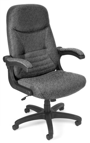 (OFM 550-301 Mobile Arm Fabric Executive Chair, High-Back Conference Chair, 48.5