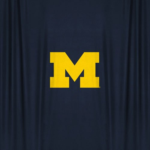 Michigan Wolverines COMBO Shower Curtain, 2 Pc Towel Set & 1 Window Valance/Drape Set (63 inch Drape Length) - Decorate your Bathroom & SAVE ON BUNDLING! by Sports Coverage