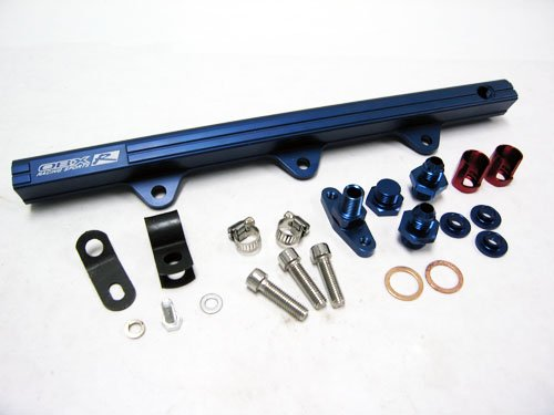 Oversized Injector - OBX Blue Fuel Injection Rail for 94-97 Mazda Miata 1.8L BP-ZE (for Oversized Injectors)