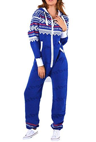in stampa Per Confezione Blau By azteca Blu In cappuccio Amberclothing con L Bambini ® One adulti Made le donne Cerniera con Malaïka One 5 S All Königsblau x All pqnwP6