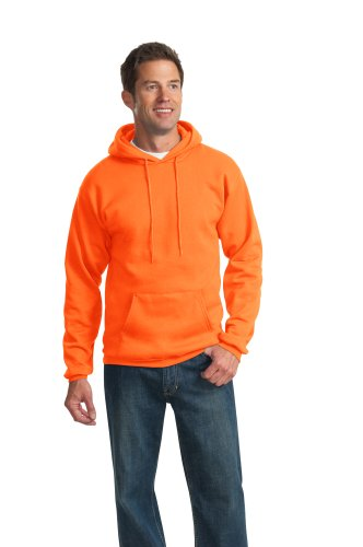 Pullover Hooded Ultimate Cotton (Port & Company Men's Ultimate Pullover Hooded Sweatshirt 4XL Safety Orange)