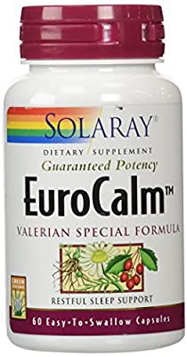Solaray Eurocalm Valerian Root Capsules, 200 mg, 60 Count
