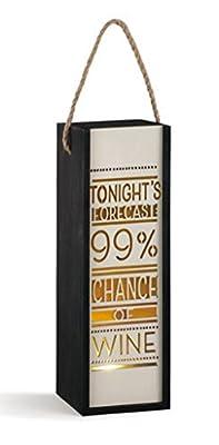 Demdaco Tonight's Forecast Wine Lantern Tabletop Decor