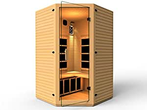 JNH Lifestyles 2-3 Person Corner Far Infrared Sauna, Latest Carbon Fiber Heaters