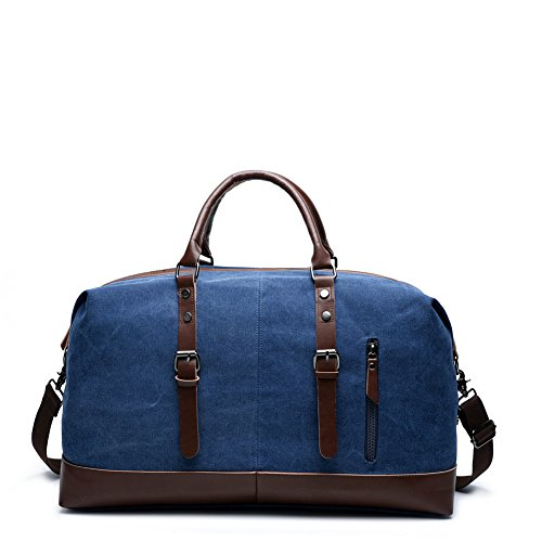 2520f8511025 Canvas Travel Duffel Unisex Weekender. Review - Carry On Bag Canvas Travel  Duffel Tote ...
