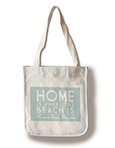 Rehoboth Beach, Delaware - Home Is Where The Beach Is - Simply Said (100% Cotton Tote Bag - - Beach Shopping Rehoboth