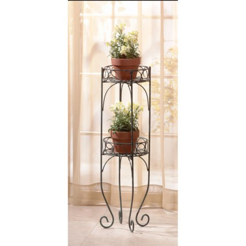 New Folding Metal Plant Stand (TWO TIER METAL PLANT STANDS - NEW NIB)