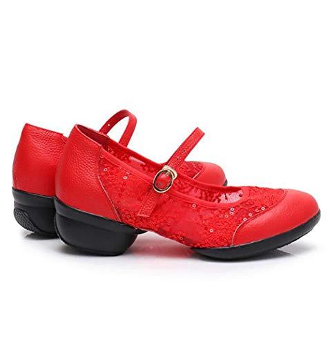 TWGDH pour Danse Chaussures Cuir Chaussures Femme Red Showtime Scène Femme De pour en De rwEYrnqCxI