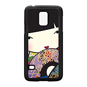 Oriental Girl Black Hard Plastic Case Snap-On Protective Back Cover for Samsung? Galaxy S5 Mini by Gadget Glamour + FREE Crystal Clear Screen Protector
