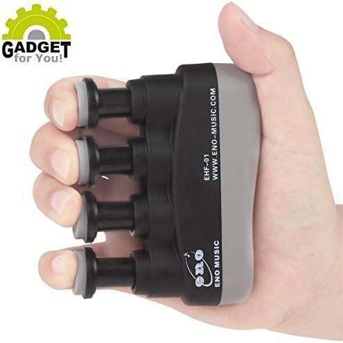 Entrenador de dedos con resistencia ajustable (dispositivo de entrenamiento para dedos y antebrazo para deportes, fitness, escalada, fisioterapia y ...