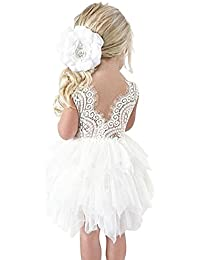 Little Girl Backless Lace Tulle Tutu Dress for Party Shows Age 1-6 Years