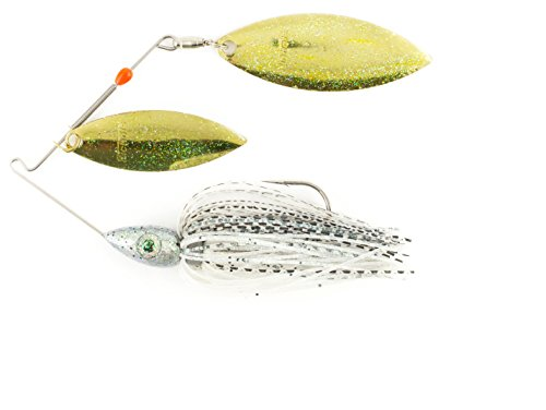 Nichols Lures Pulsator Metal Flake Double Willow Spinnerbait, Baby Bass, - Bait Bass Magnum