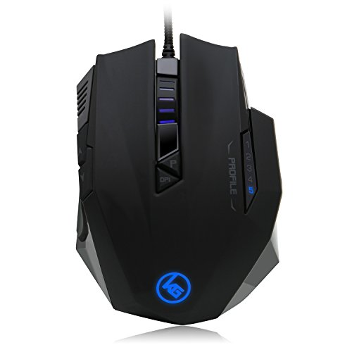IOGEAR Kaliber Gaming RETIKAL Pro FPS Gaming Mouse, Black, GME660