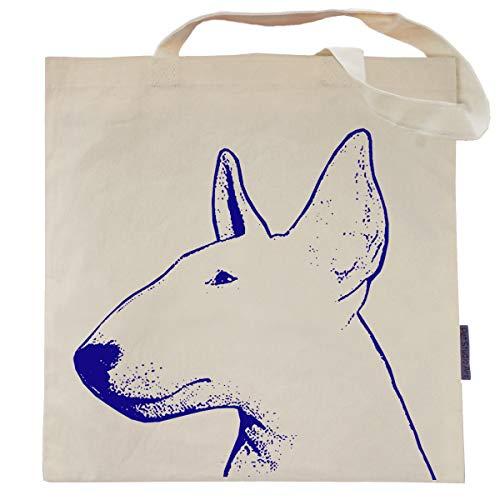 (Ralph the Bull Terrier Tote Bag by Pet Studio Art)